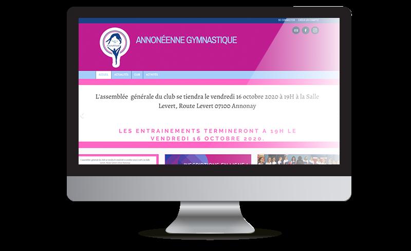 Exemple de site web Comiti : Annonéenne Gymnastique
