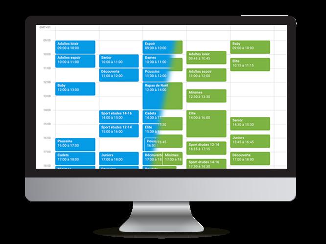 Illustration d'un calendrier rapproché vs espacé